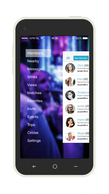 the inner circle dating app page showing its features