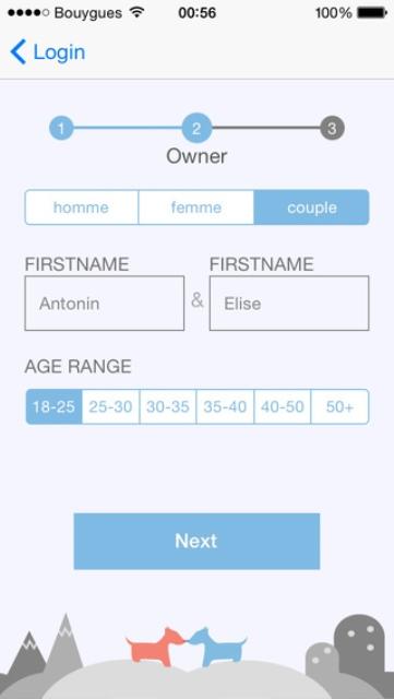 tindog profile page