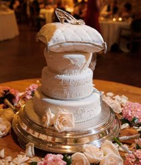 romantic cinderella wedding cake