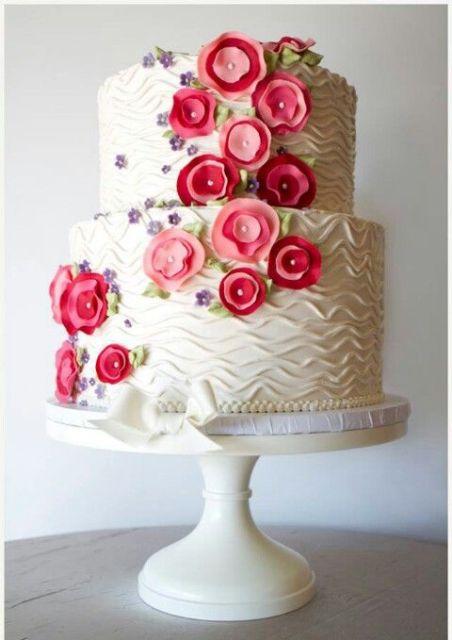 textural wedding cake