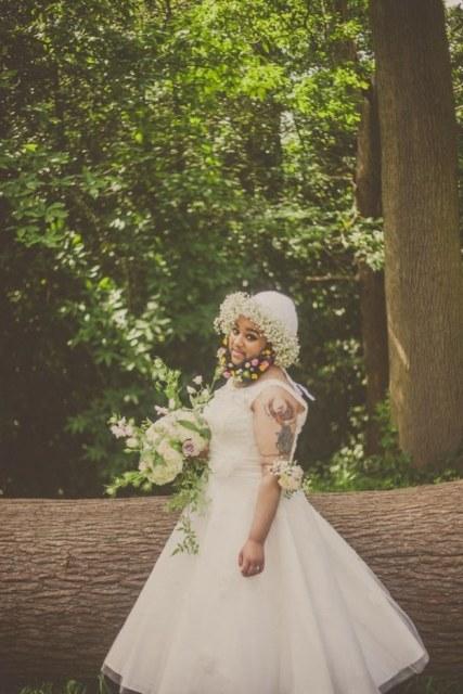 Harnaam Kaur in Louisa Coulthurst's Flower Bearded Bride Photoshoot