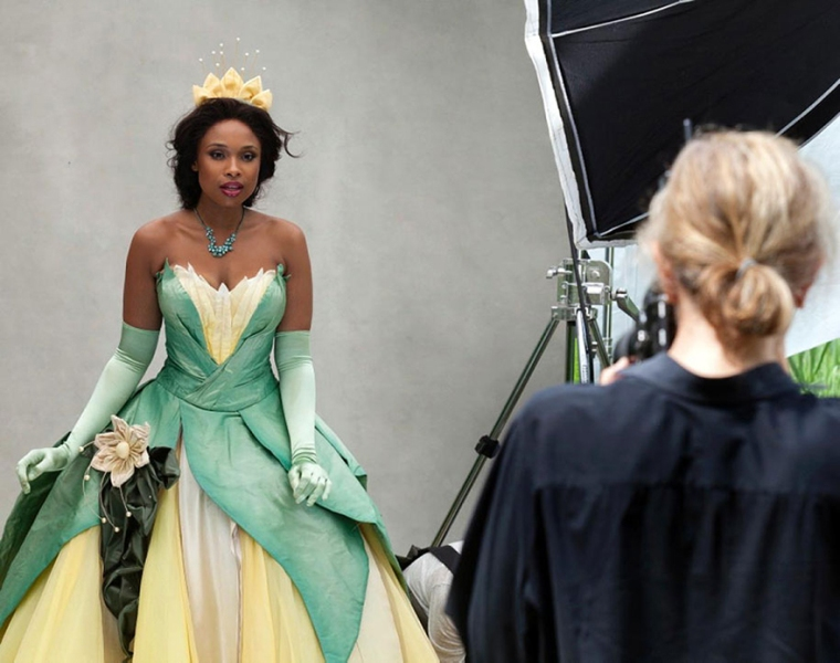 Jennifer Hudson as Tiana from The Princess and the Frog- behind the scenes