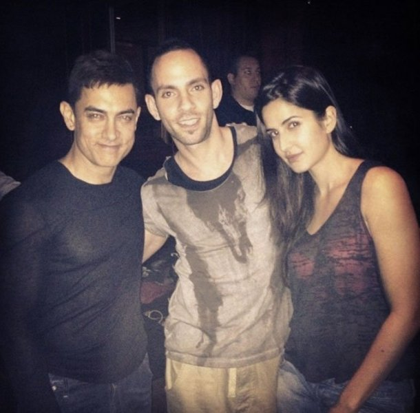 (L-R) Aamir Khan, Reza and Katrina Kaif