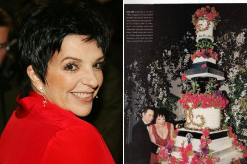 Liza Minnelli and David Gest's wedding cake