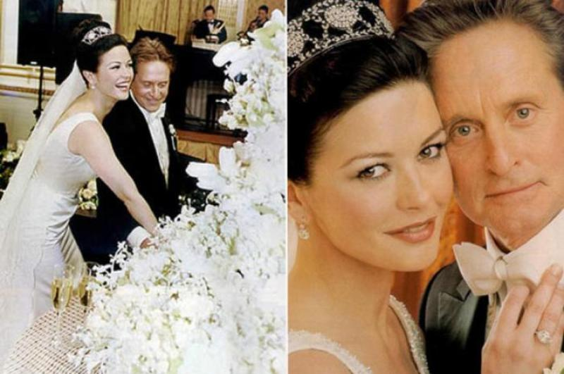 Michael Douglas and Catherine Zeta Jones' Vanilla wedding cake