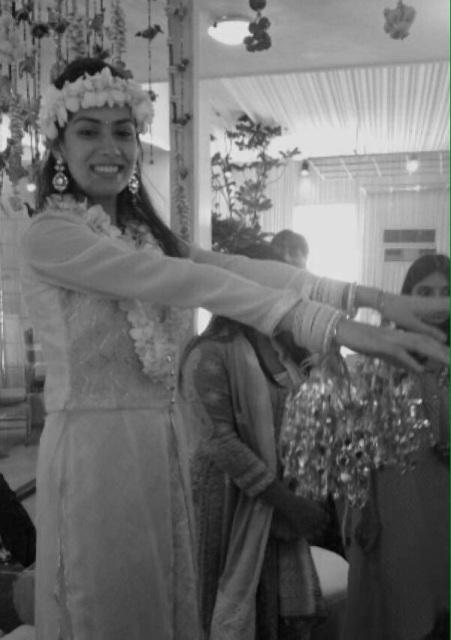 Mira at her kaleera ceremony