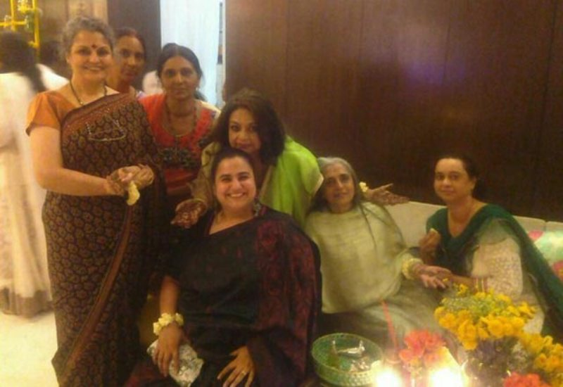 Neelima Azim (3rd from left) at the sangeet