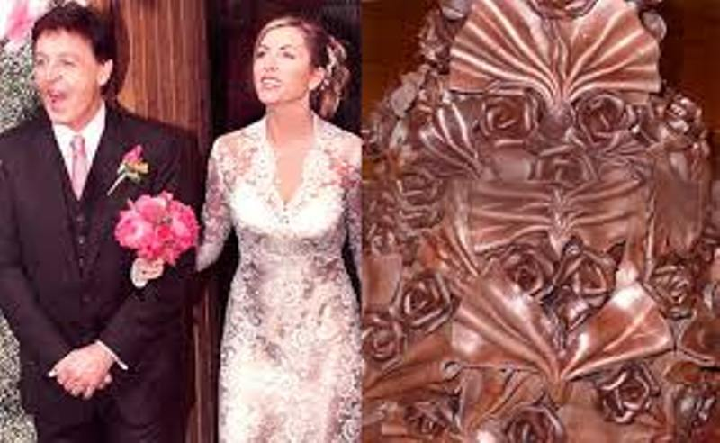Paul McCartney and Heather Mills' chocolate wedding cake