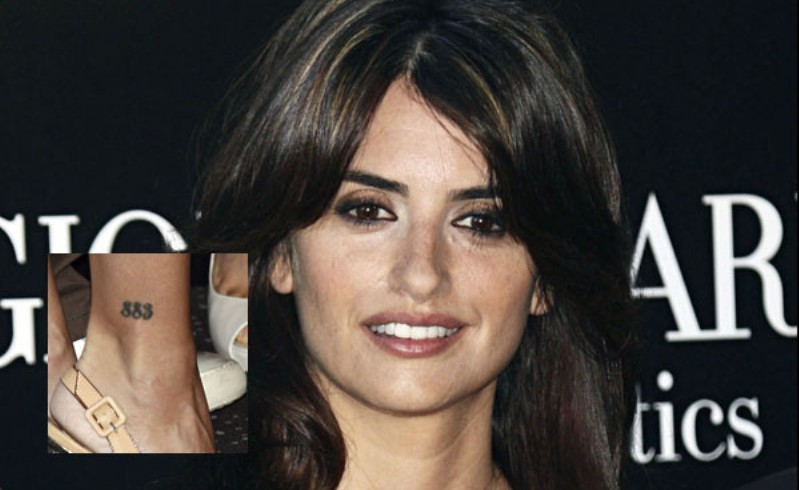 Penelope Cruz 883 tattoo