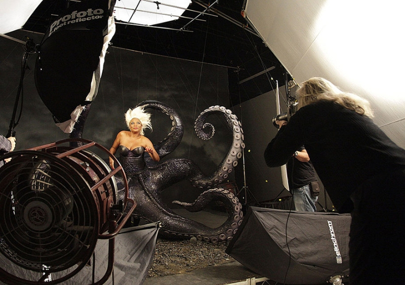 Queen Latifah as Ursula from The Little Mermaid- behind the scenes
