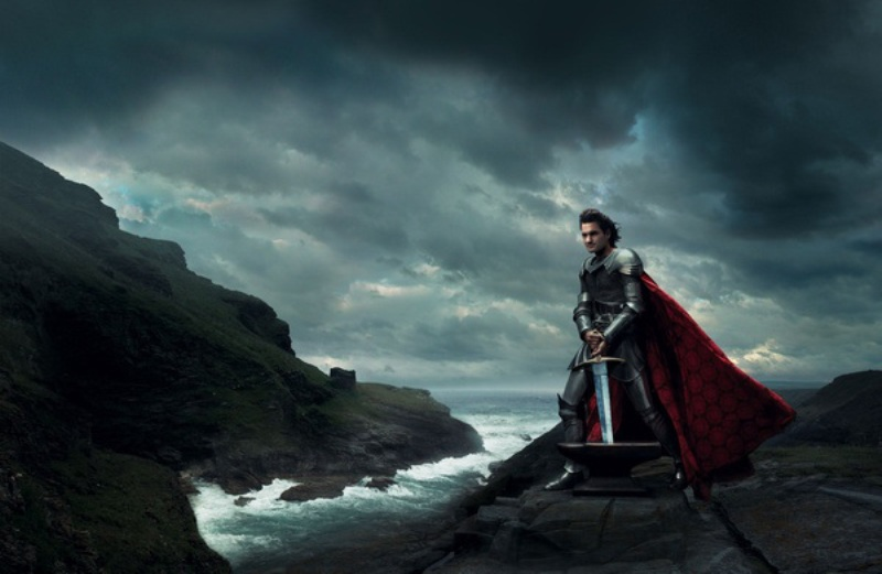 Roger Federer as King Arthur in 'The Sword in the Stone'