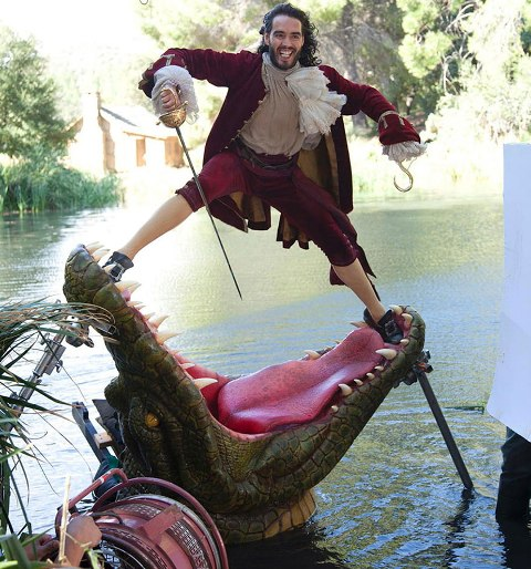 Russell Brand as Captain Hook- behind the scenes