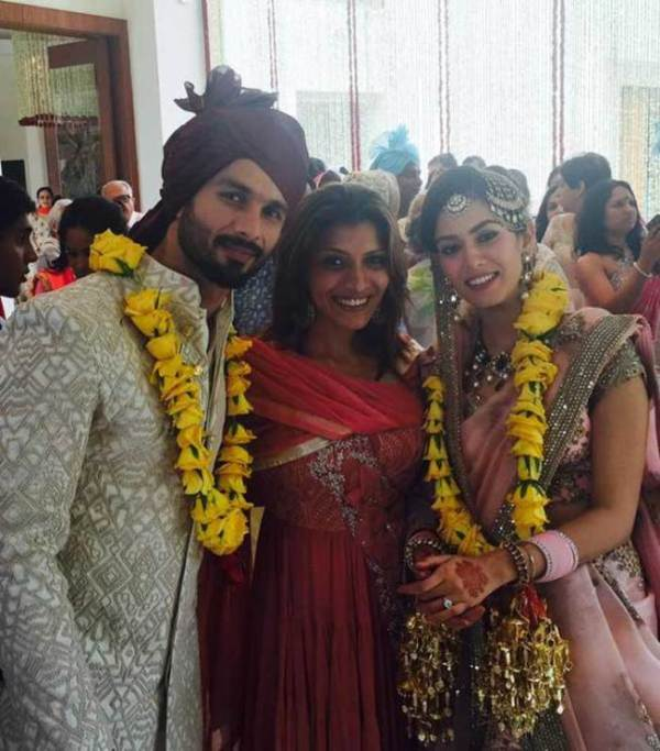 Shahid Kapoor and wife Mira with friend Mubina Rattonsey