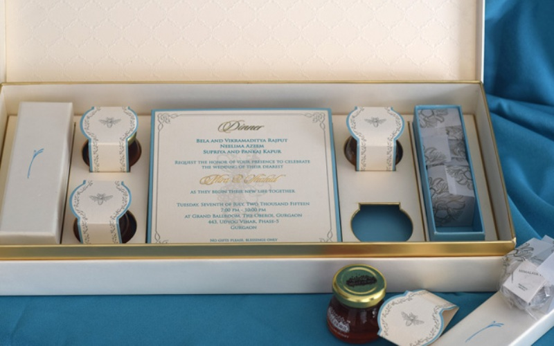 Shahid-Mira wedding card- inside