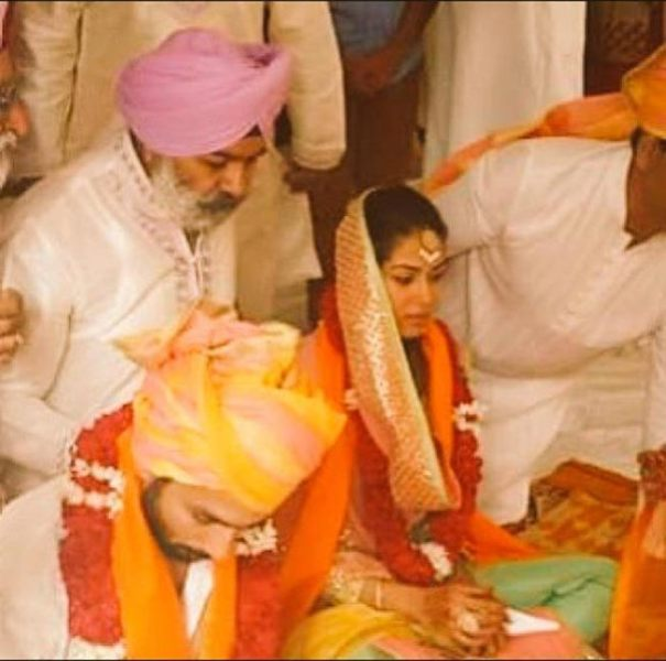 Shahid and Mira's wedding ceremony