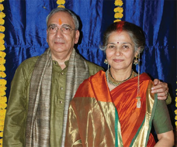 Suhasini Mulay with husband Atul Gurtu