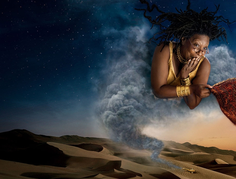 Whoopi Goldberg as the Genie