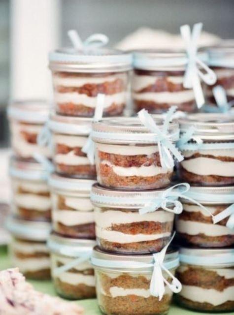 cakes in jars