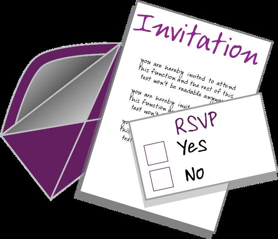 invitation rsvp