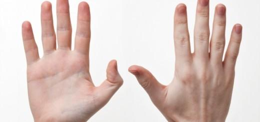 man's hand