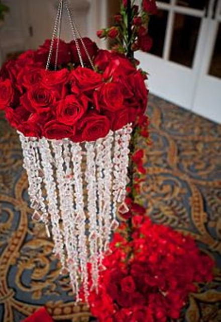 red rose chandelier