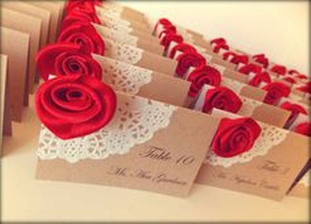 red rose escort cards