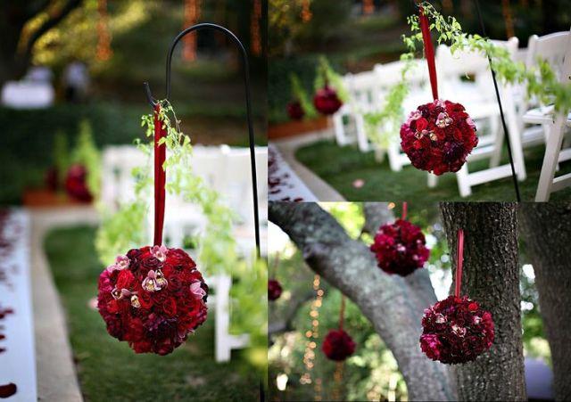 red rose pomanders
