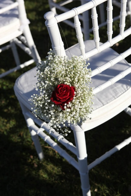 red rose wedding chairs