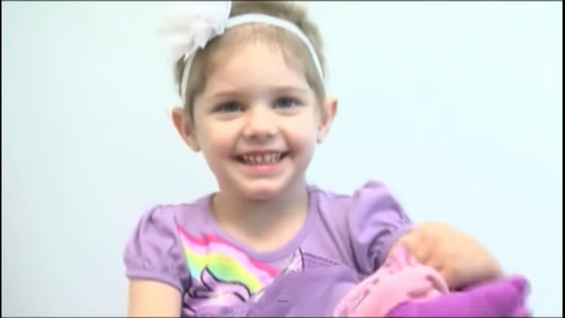 the adorable four-year-old abby sayles