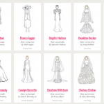 Artist Draws 100 Iconic Wedding Dresses Of Your Favorite Celebrities In One Infographic
