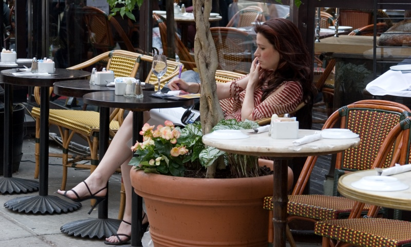 woman at a cafe_New_Love_Times
