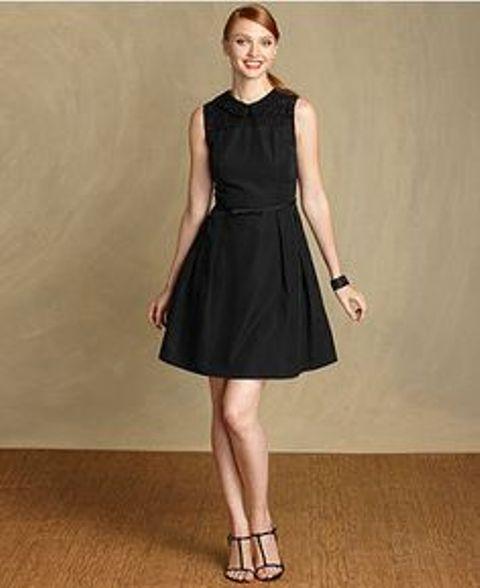 A-line black dress