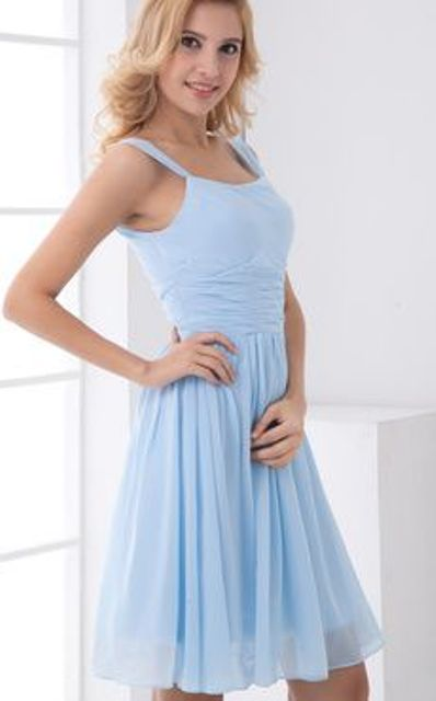 light blue chiffon dress