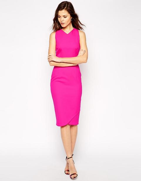 bonded pencil dress