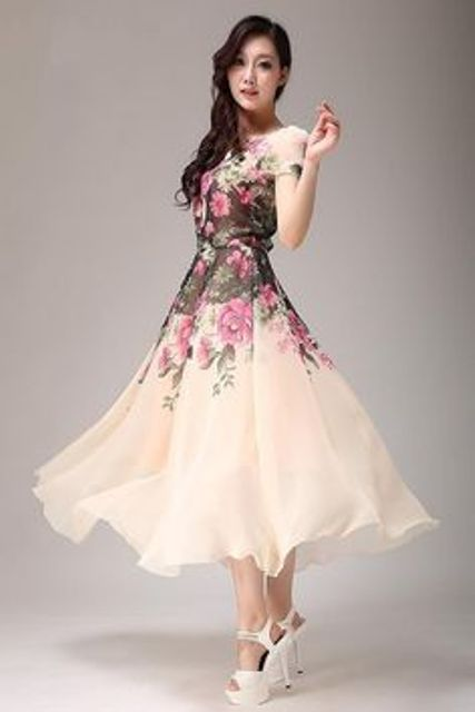 the semi-formal tea-dress in floral print