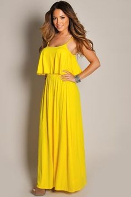 ruffle maxi dress
