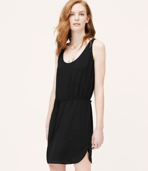 easy style pull on black dress