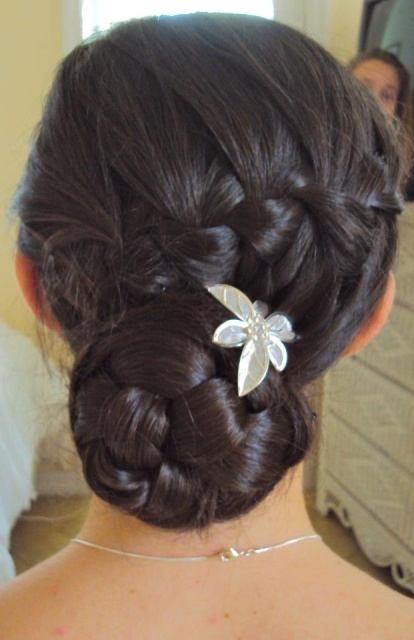 four braid twisted bun