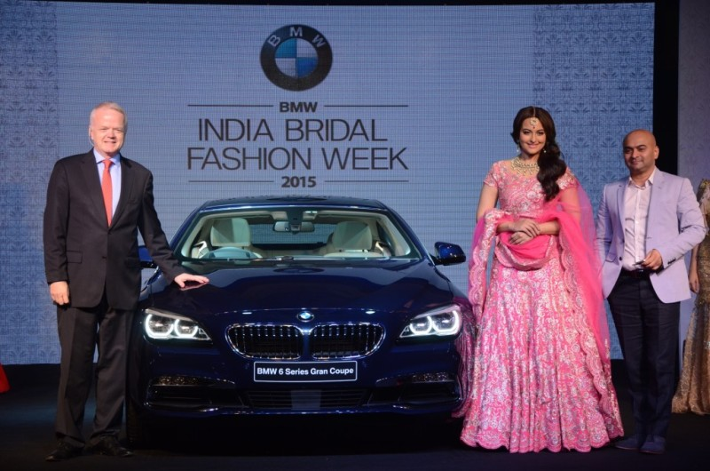 BMW CEO announcing the start of India Bridal Fashion Week 2015