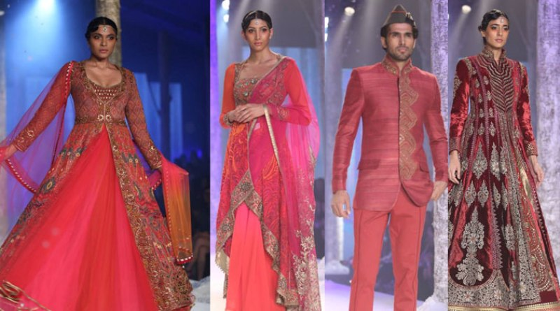 JJ Valaya collection at India Bridal Fashion Week 2015