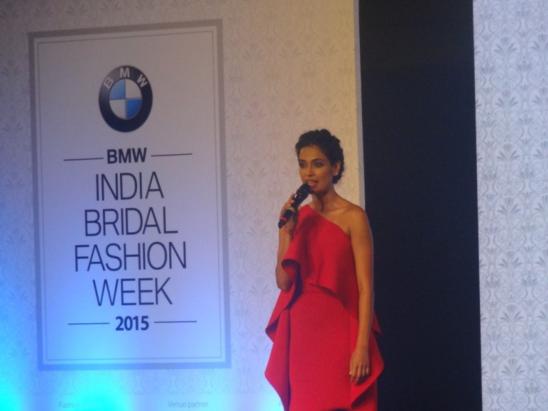 Sarah Jane Dias at India Bridal Fashion Week 2015 Inauguration