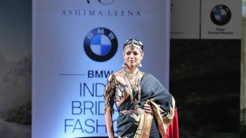 The South Indian inspired collection at India Bridal Fashion Week 2015 by Ashima and Leena