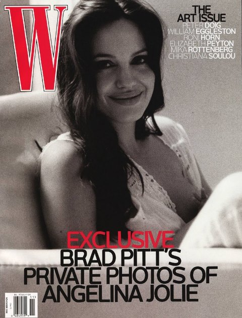 angelina jolie on the cover of w magazine