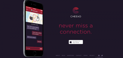 cheekd dating app home page