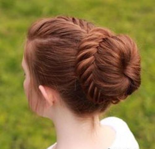 rope braid chignon1