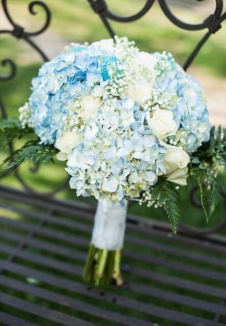 rustic bouquet of hydrangea