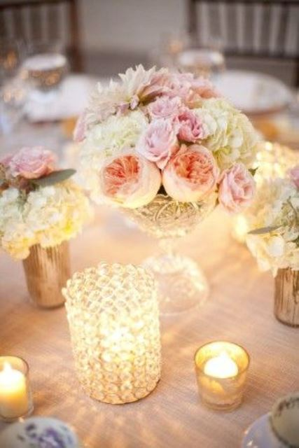 rustic flowers representing wedding theme