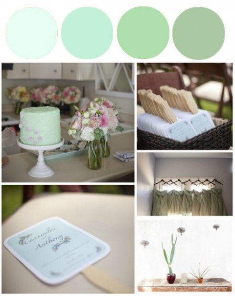 rustic minty flowers