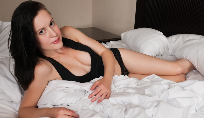 woman comfortable in her sexuality