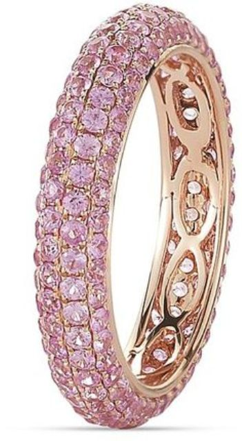 rose gold and pink sapphire rings